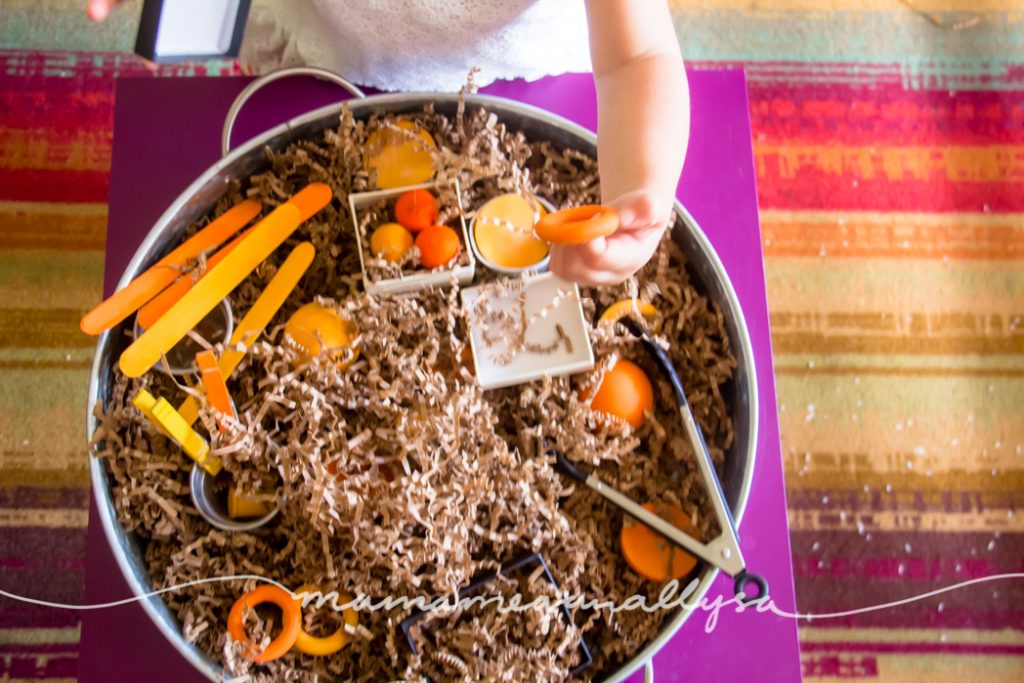 Loose parts are a great way to encourage creative thinking and imagination