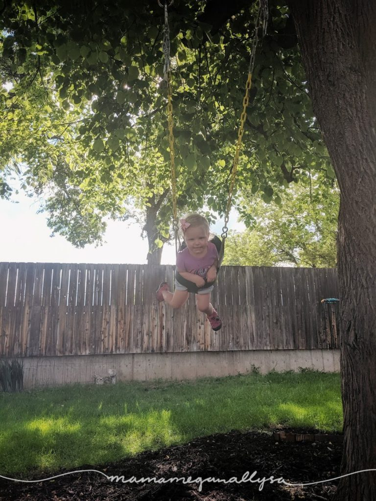 We first got our swing when she was about 9 months old I think. She was mostly indifferent for many months, Then something changed around 14 months or so. Now we can't go outside with out a swing session.