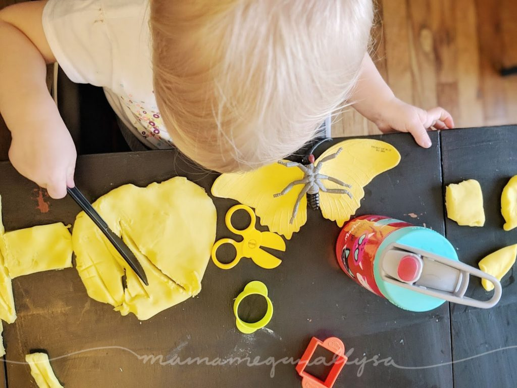 Lots of parents shy away from play dough, but I have to say I LOVE the stuff and so does Bitty