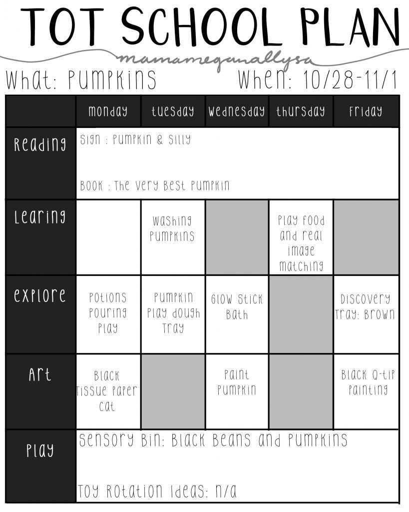 For our second week of Halloween fun we are going to be playing with pumpkins and potions!