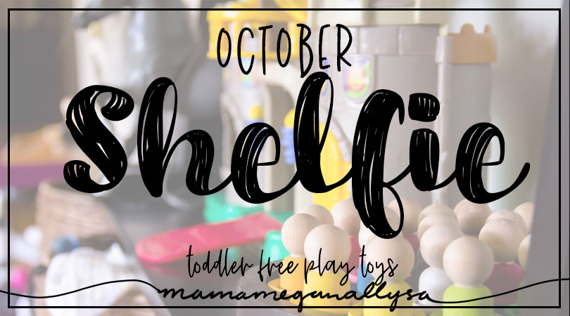 Our October Toddler Toy Rotations have lots of opportunity for building and color matching as well as imaginative play!