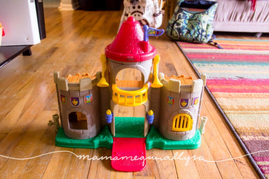 our vintage little people castle