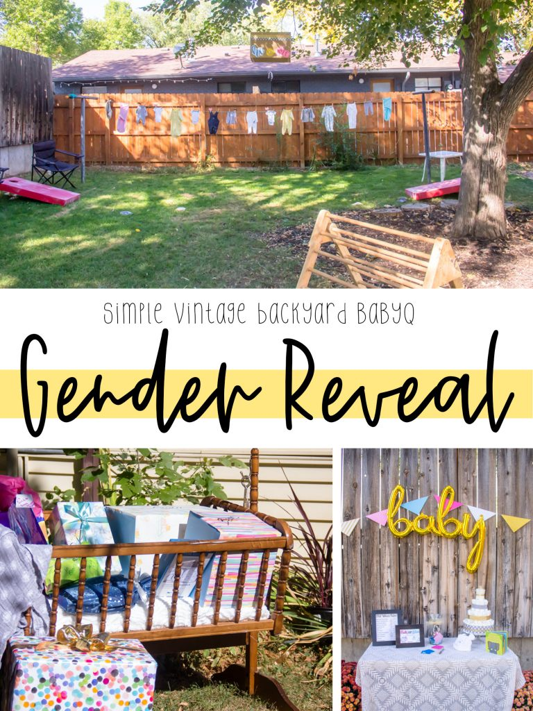 our Vintage backyard BaByQ gender reveal party was a simple and wonderful way to celebrate baby Bean and to spend some time with family and friends