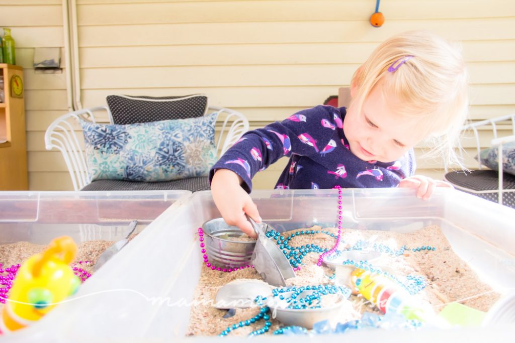 Sandboxes are great sensory bins for all ages. Theres just some kind of magic to them.