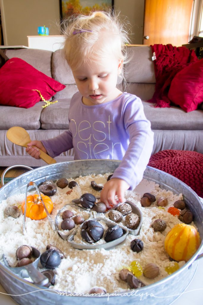Nature is full of loose parts that are great additions to a sensory bin!