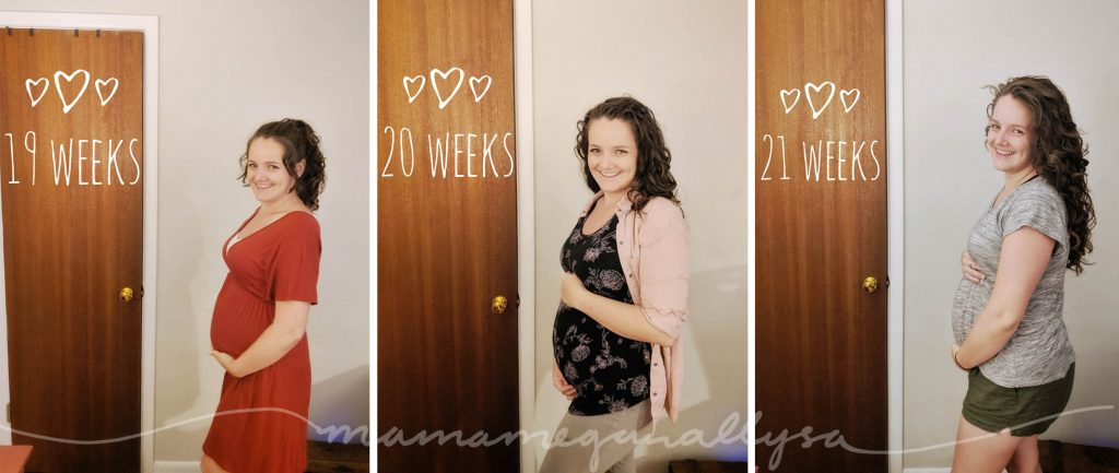 a weekly bumpdate covering 19-21 of my 2nd pregnancy