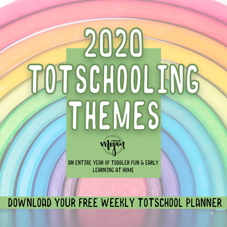 our full year of weekly tot school themes broken down by month