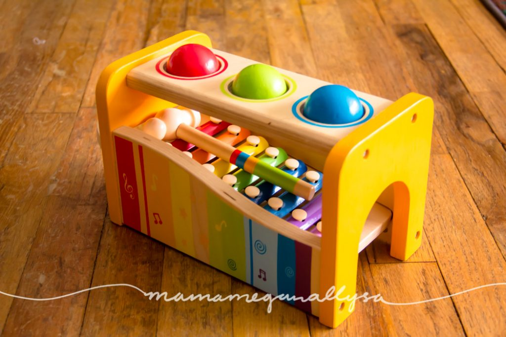 the hape hammer bench is a 2 in 1 toy and a great addition to any play room