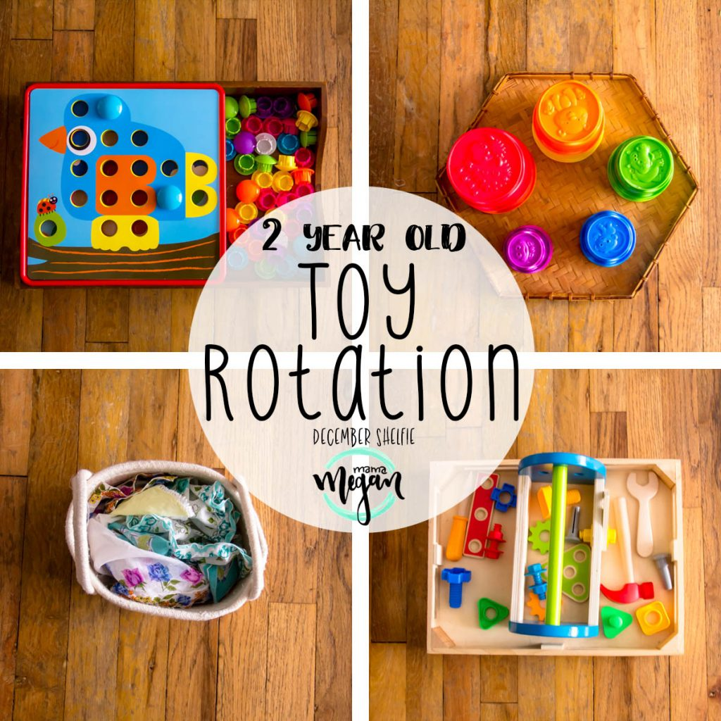 Our December toy rotation is set up to be fun for independent play as well as some easy invitations to play for us all.