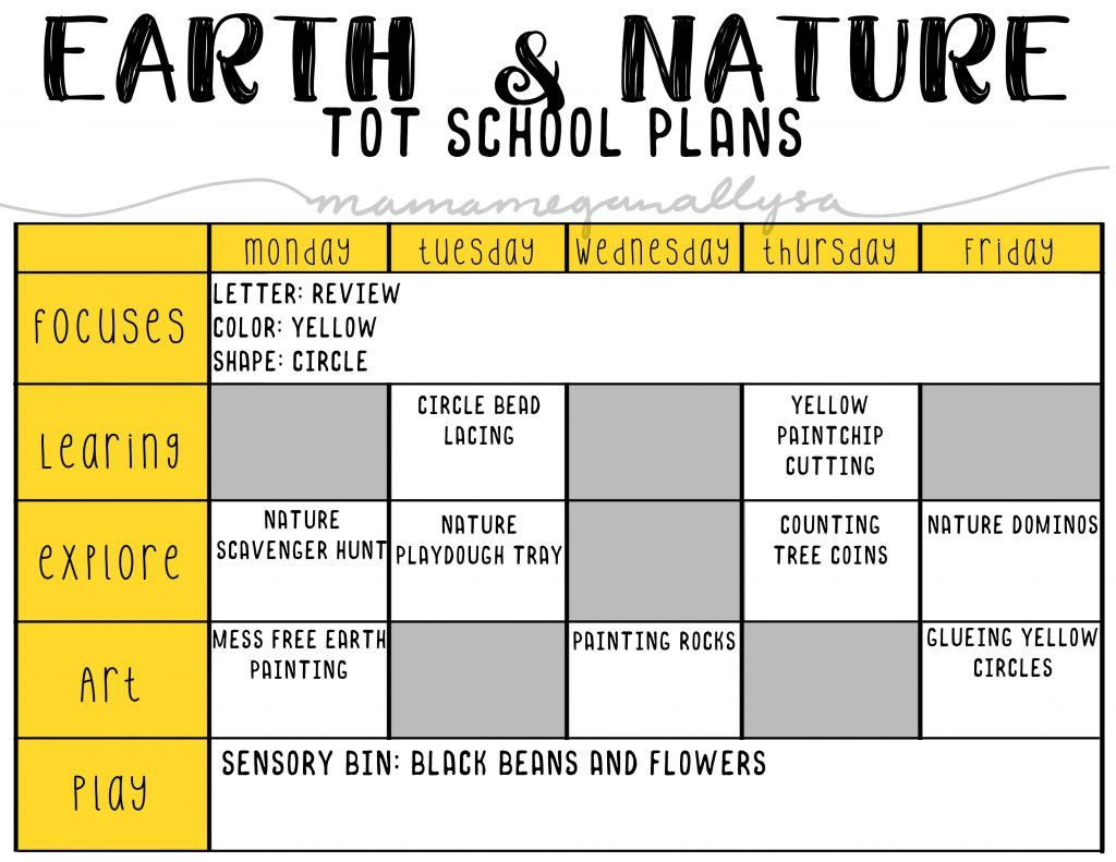 Our Earth and Nature focus will talk about what we find all around us in nature. Sticks, rocks, dirt, and water