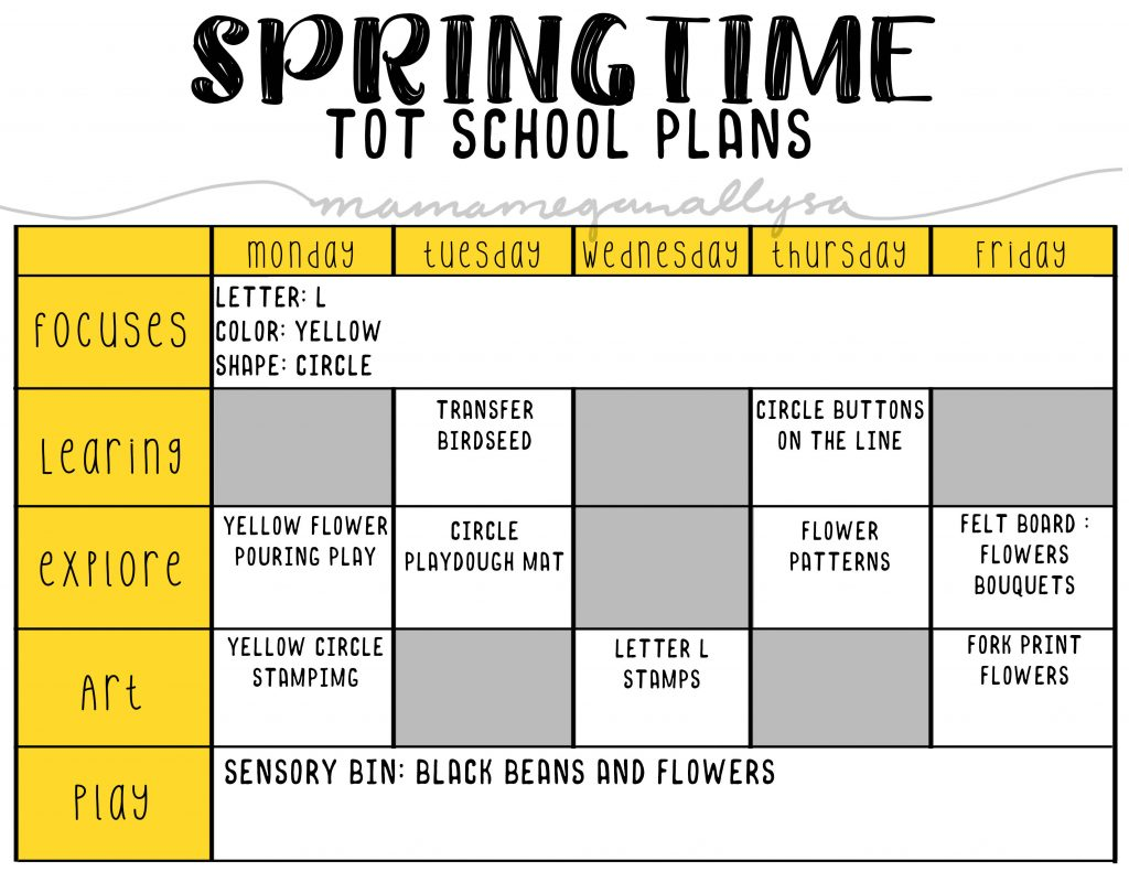 My Springtime tot school plans will play with flowers and what it takes to help flowers grow