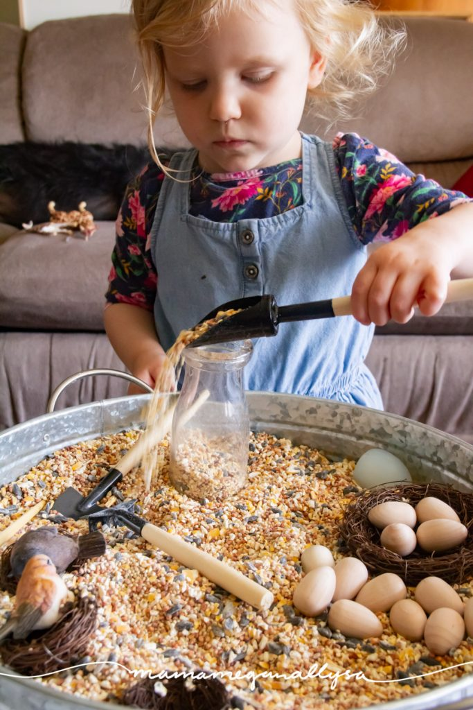 a scoop and jar offer great fine motor  practice