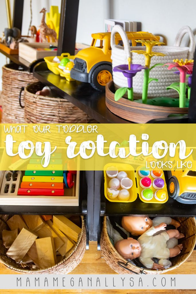 """Our toy rotations are happen more frequently now that we have been home full time for a while. I don't know if she really is bored or if I just need the distraction of """"new"""" toys more!"""
