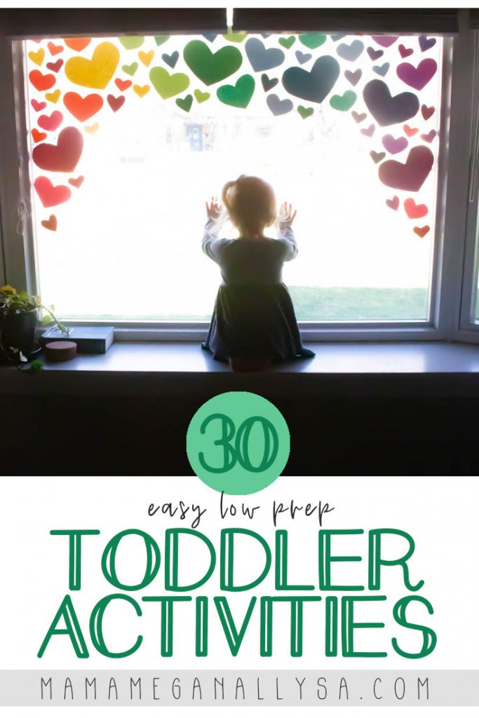 Easy low prep toddler activities are the way to go when you have lots going on at home, but they need to do something!
