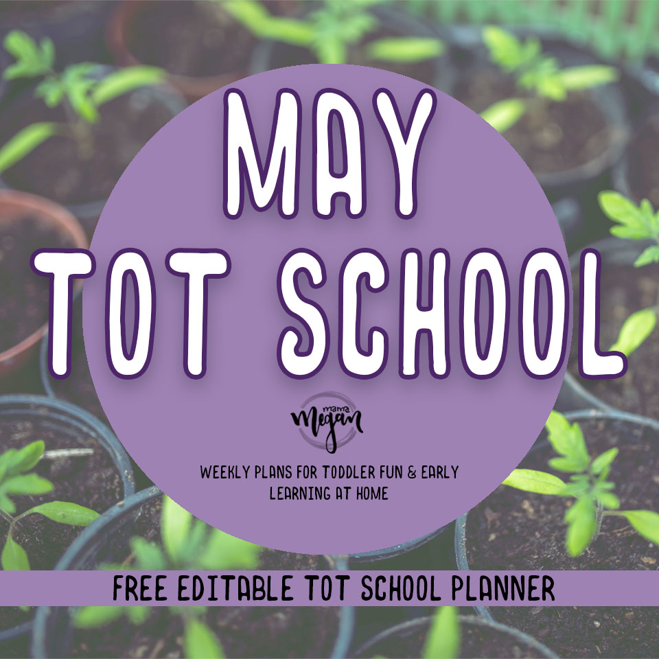 May tot school plans for early learning at home covers gardening, insects, desert life and just a little magic