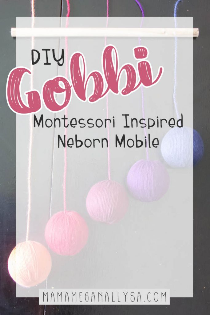 How to make your own color gradient baby mobile, inspired by the Montessori Gobbi Mobile
