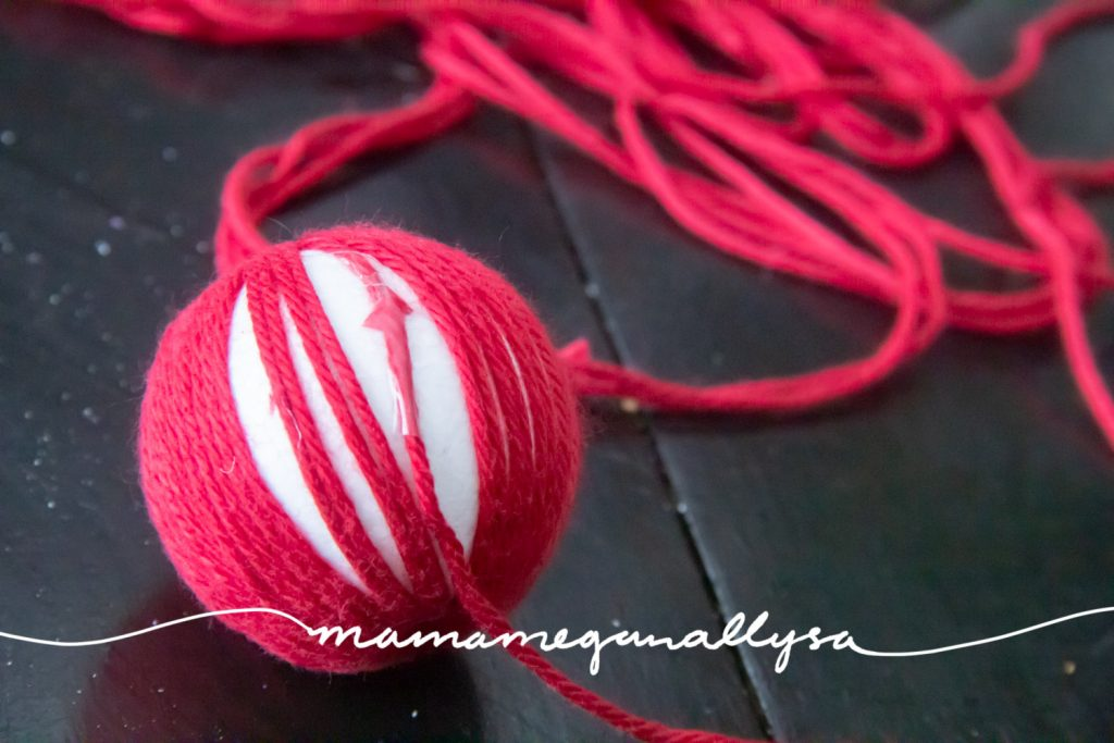 I found it helpful to start a new thread right  where an old thread finished it make for an cleaner and easier wrapping process when I was making the balls for my Gobbi Mobile