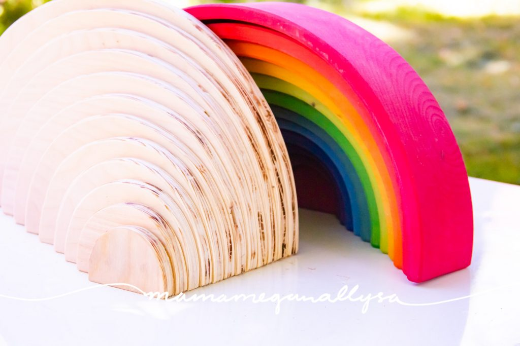 If you need to breath some new life into your rainbow I love the addition of DIY Semicircles and Planks!