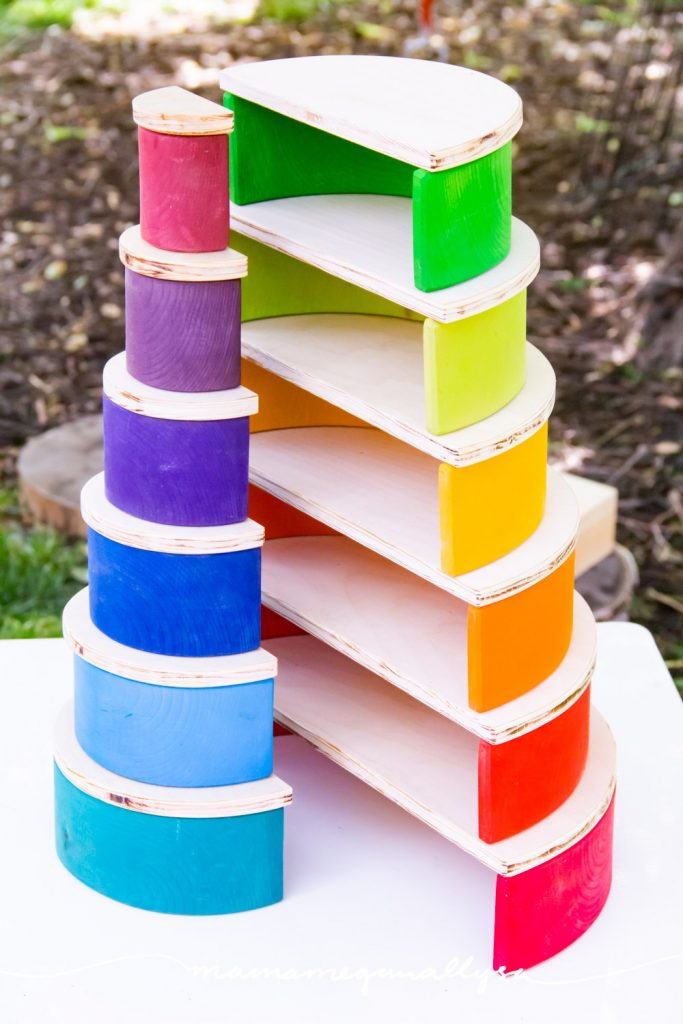 Semicircles are a great way to stack your rainbow with some more stability