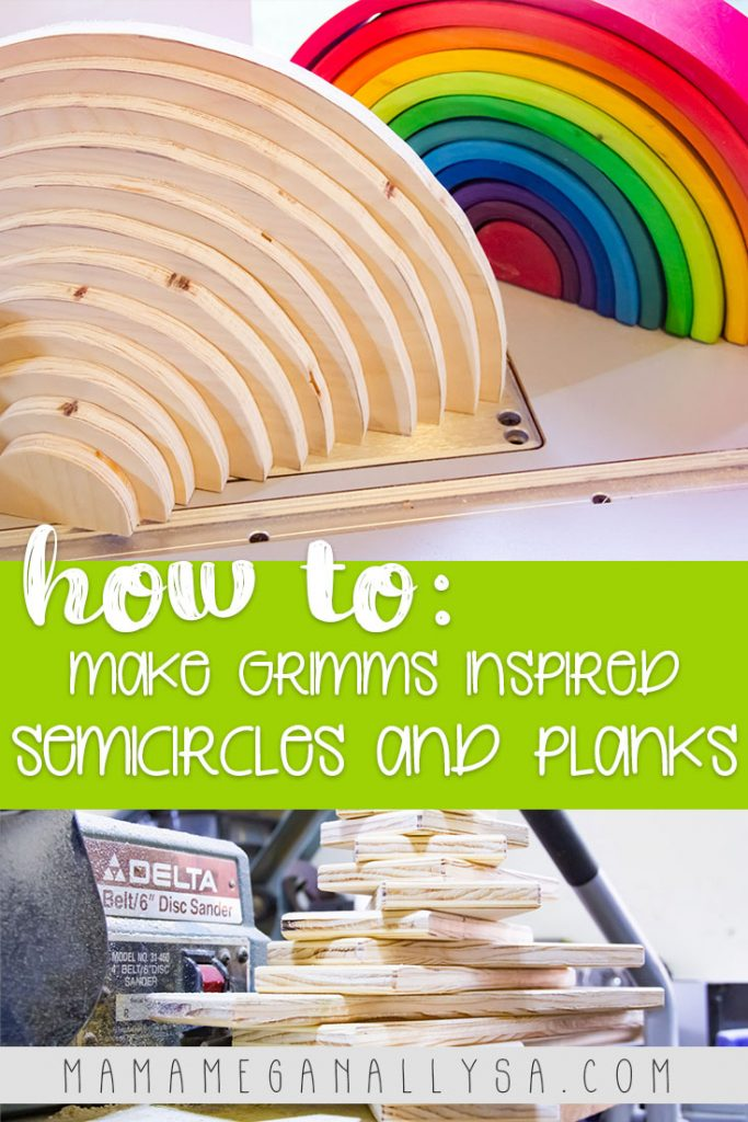 Creating your own DIY semicircles and planks is super simple and could be knocked out in just a couple of afternoons!