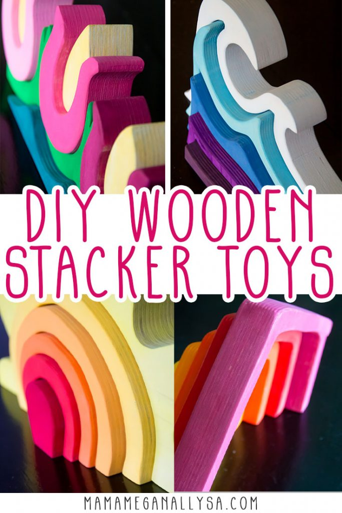 Check out how I make our custom wooden stacker toys for small world play
