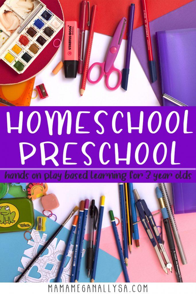 Daily Homeschool Schedule: 3-year-old Preschool with a FREE editable daily routine! #preschool #homeschool #preschoolschedule