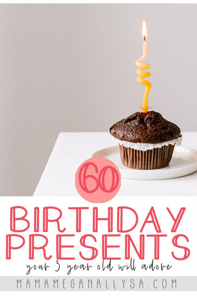 Your 3 year old is bound to love at least one of the ideas on this 3rd Birthday Gift guide with over 60 ideas that range all kinds of interests!