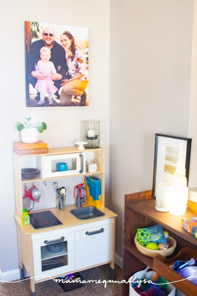 A play kitchen is a must-have in any shared playroom. Cooking for your and their toys is one of the very first things that your toddler will pretend to do, for a good reason they see you doing it all the time!