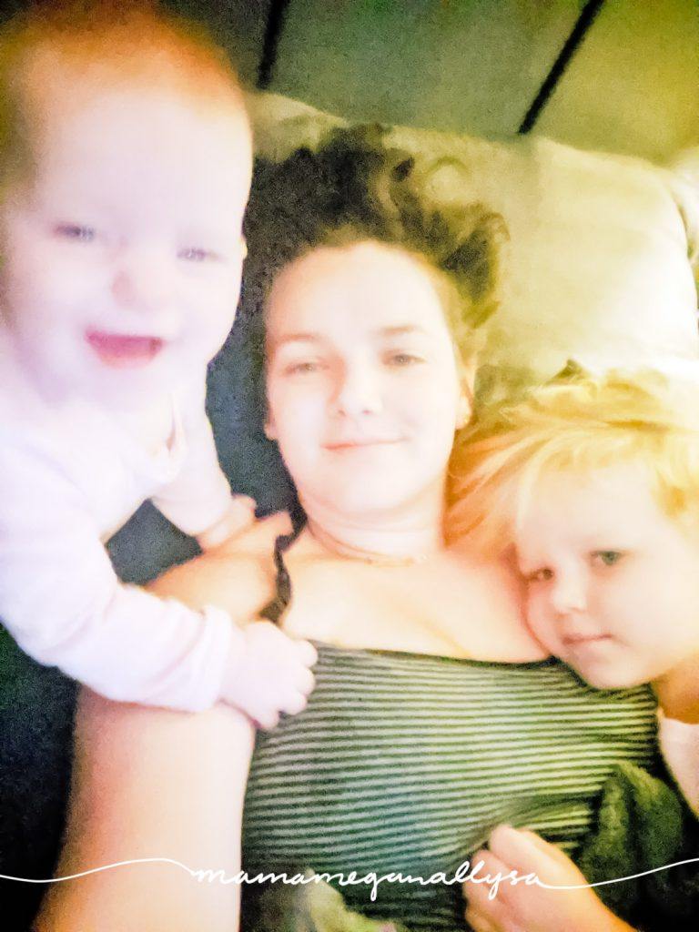 Mama and her girls start every morning with some cuddles in bed!