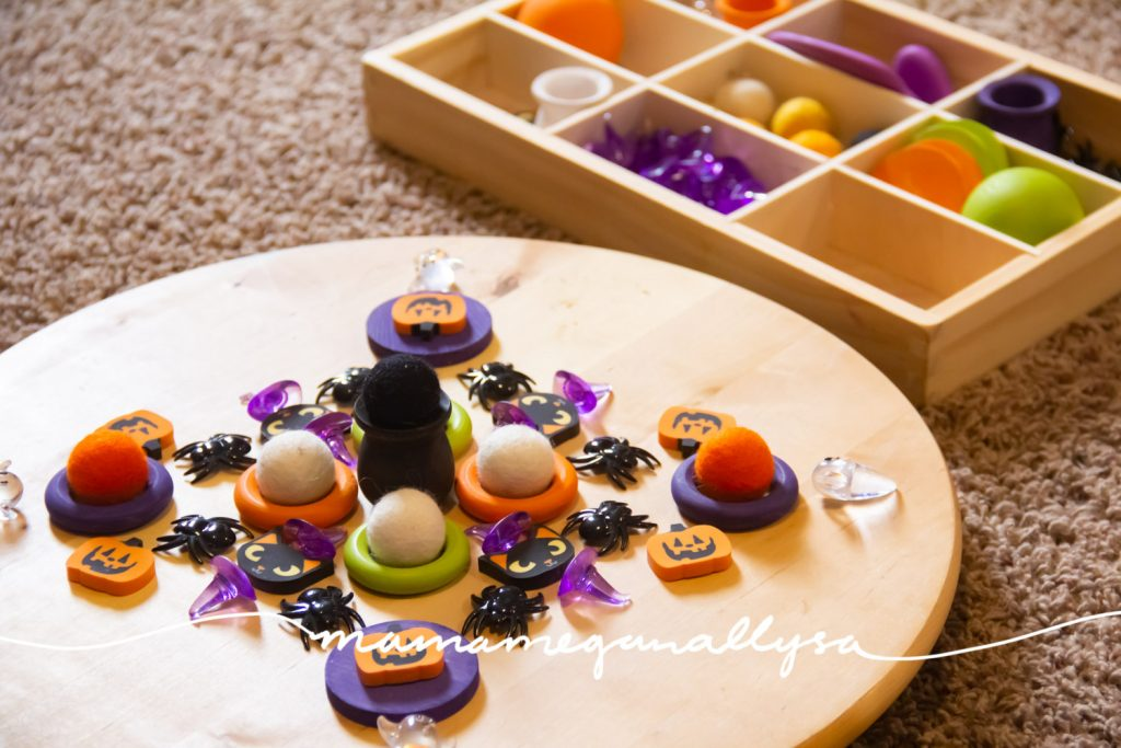 One great way to play with loose parts is to set up a mandala. its great practice in patterns and visual balance and personally I just find them fun!