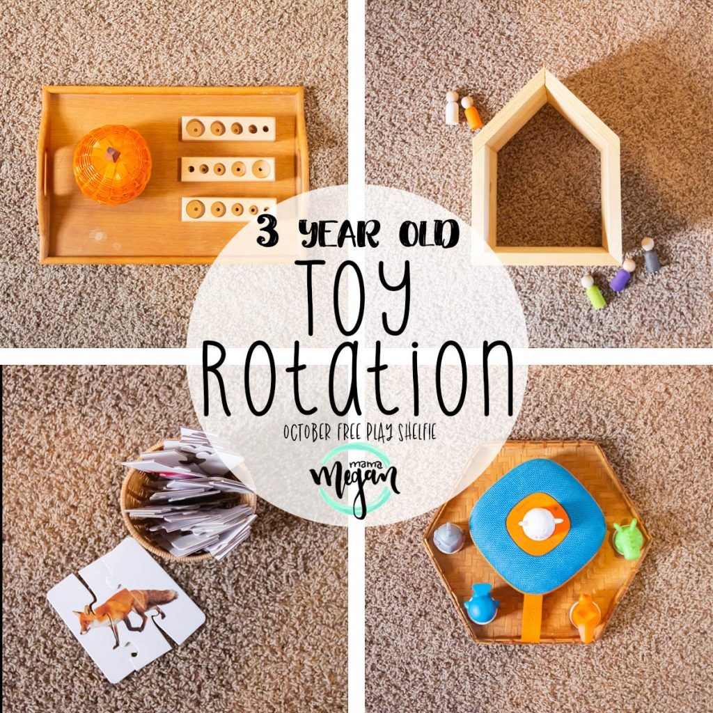 Take a peek into how I set up a Halloween Toy Rotation for a shared playroom between a 8-month-old baby and a 3-year-old toddler. I'll give you all my secrets to keeping them both happy, entertained, and add a little holiday magic to your shelfie!