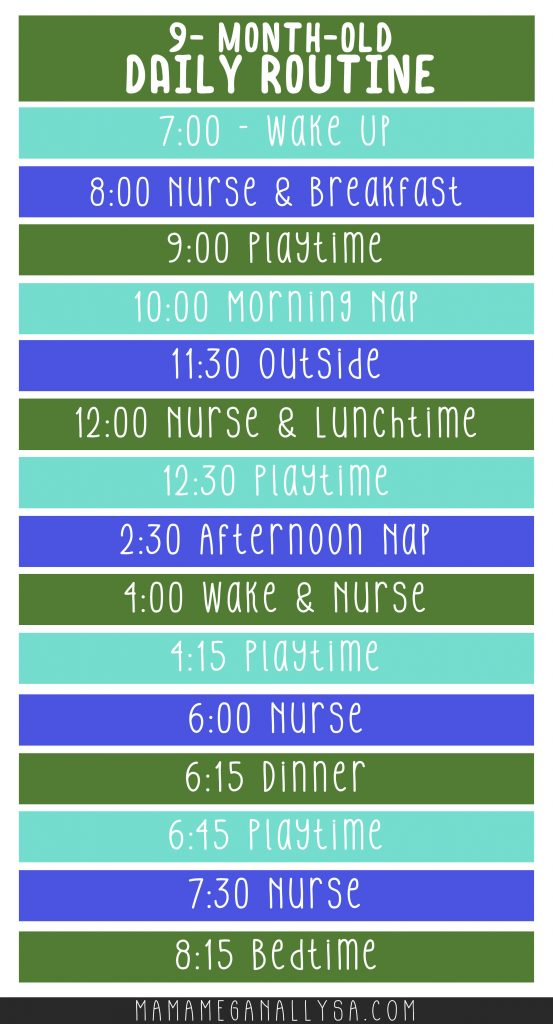 a block schedule for my 9-month-old baby