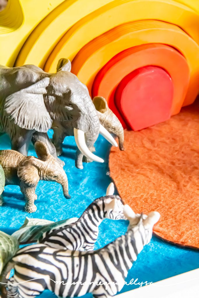a close-up shot of the elephants in our safari small world