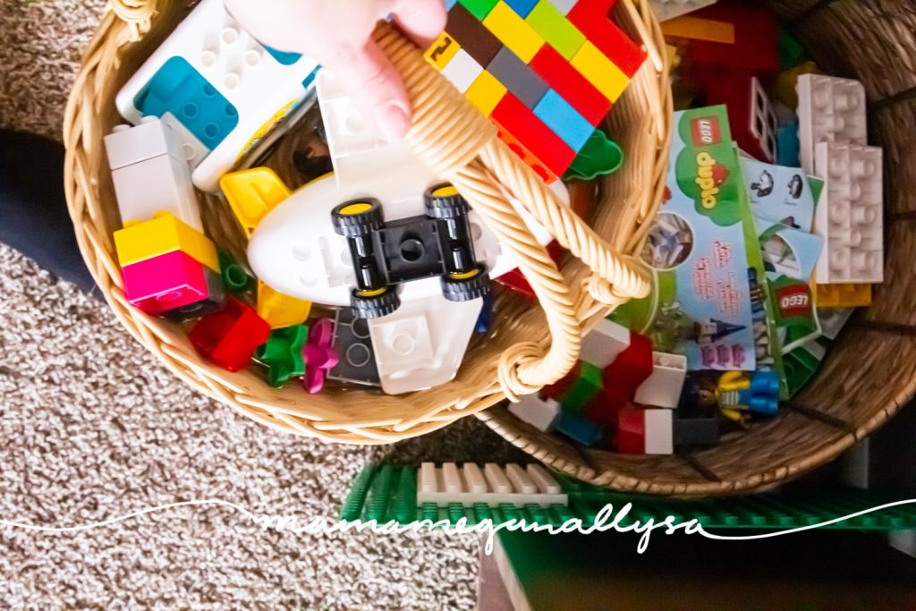 our basket of lego duplo blocks