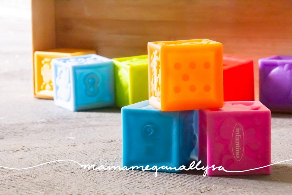 A collection of colorful plastic blocks
